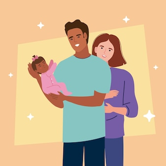 Parents avec nouveau-né