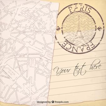Paris modèle de carte