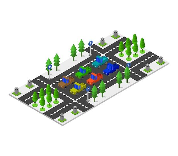 Parking isométrique