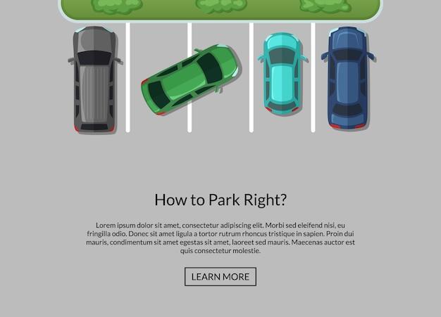 Parking avec des voitures
