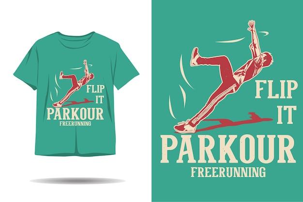 Parkour free running flip it conception de t-shirt
