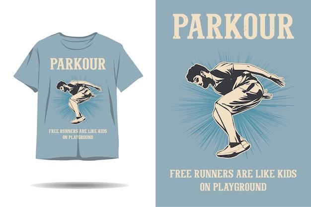 Parkour free running sont comme les enfants sur la conception de t-shirt de terrain de jeu