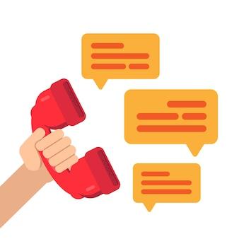 Parler au téléphone, passer un appel téléphonique