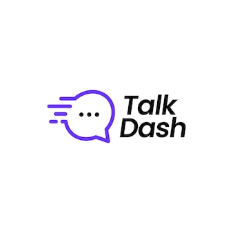 Parler dash logo icône vector illustration