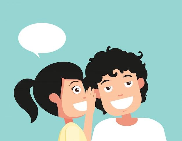 Parler et écouter le vecteur d'audience et de murmure