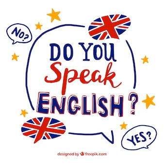 Parlez-vous anglais fond de lettrage