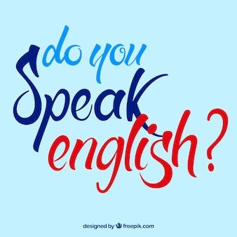 Parlez-vous anglais fond lettrage