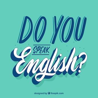 Parlez-vous anglais question avec design plat