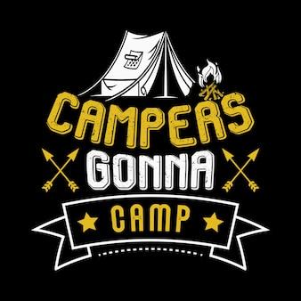 Paroles de camping et citations