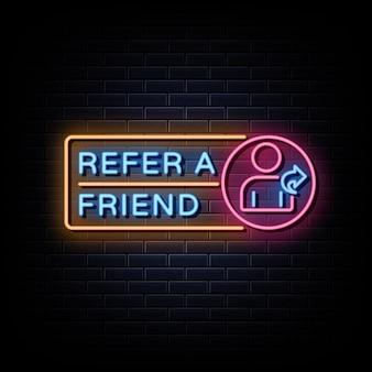 Parrainez un ami enseignes au néon