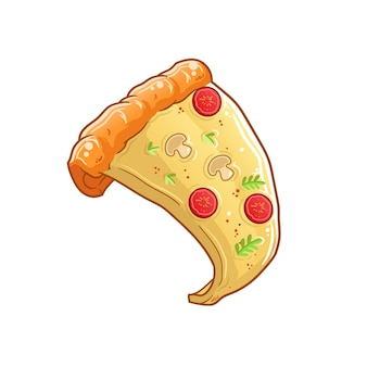 Une part de pizza