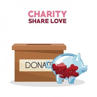 Partage de la charité et amour