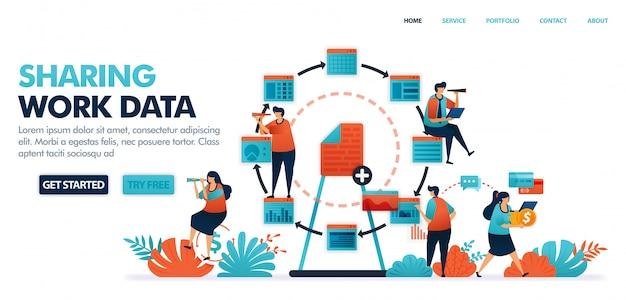 Partage de données et de documents de travail, partage d'emplois avec activité économique dans le secteur des technologies 4.0