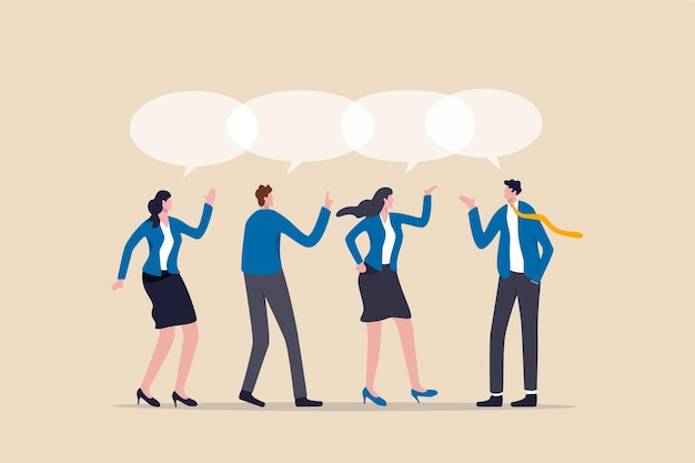 Partage d'opinion de travail d'équipe, idée de partage de réunion d'équipe.