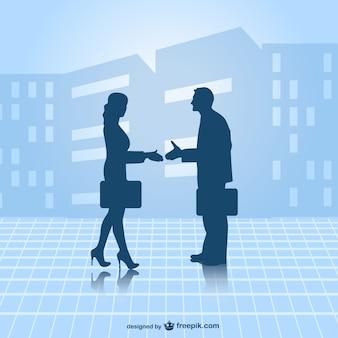 Partenaires d'affaires vecteur