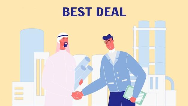 Partenaires commerciaux main secouant vector illustration