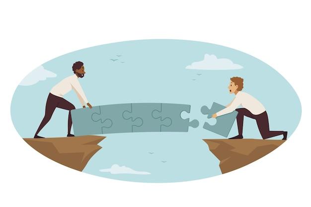 Partenariat, connexion, collaboration commerciale.
