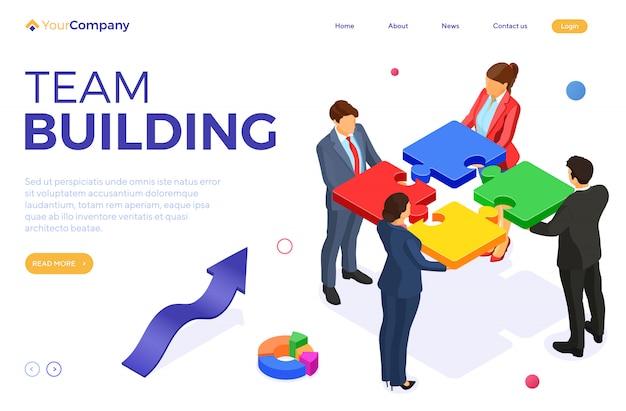 Partenariat, travail d'équipe hommes et femmes d'affaires