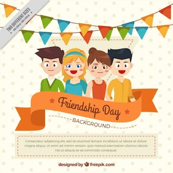 Parti avec des amis fond