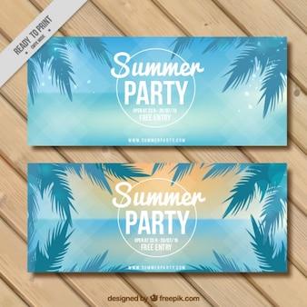 Parti bannières bleu d'été