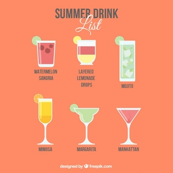 Parti liste de boissons d'été