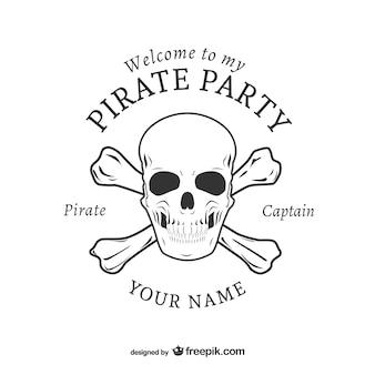 Parti pirate conception de logo