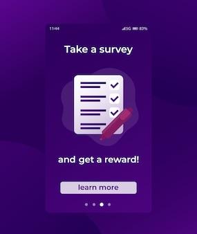 Participez à une enquête, mobile