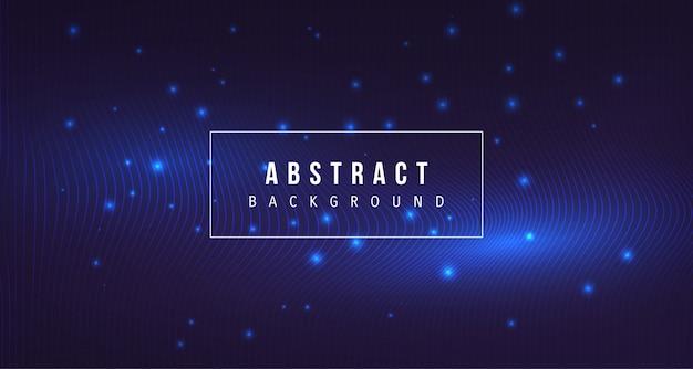 Particule abstraite avec fond de ligne lueur