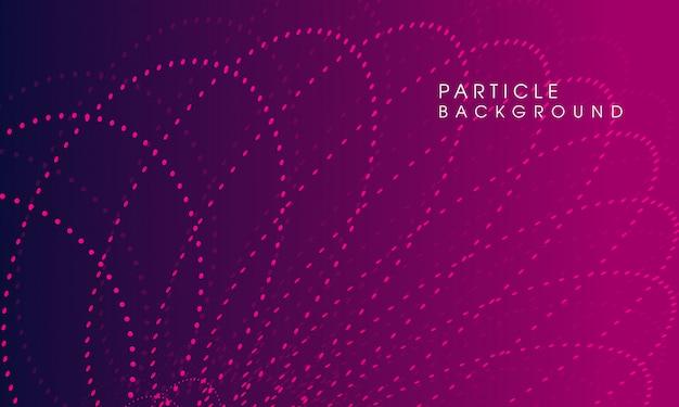 Particule minimaliste abstrait fond violet foncé
