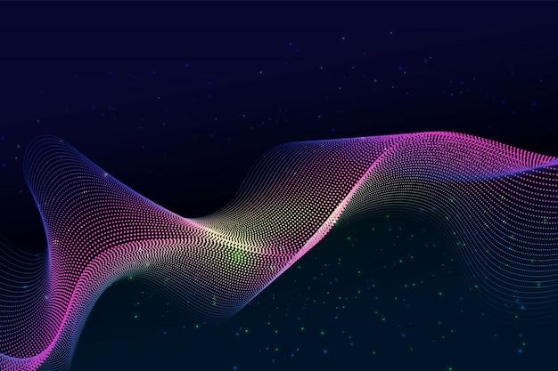 Particule et poussière abstrait design moderne avec espace de copie