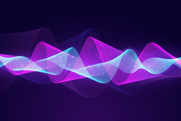 Particules abstraites égaliseur vague de fond
