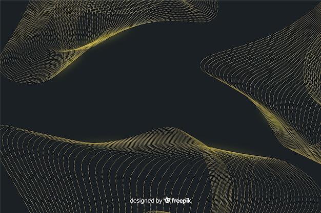 Particules abstraites d'or net