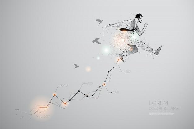 Les particules, art géométrique du saut.
