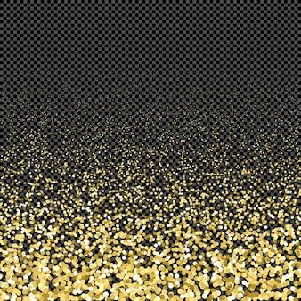 Particules de couleur or vecteur étincelles effet poussière brillante confettis texture art luxe magie riche artistique abstrait dégradé fond sombre