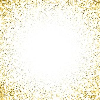 Particules de couleur or vecteur étincelles effet poussière brillante confettis texture art luxe magie riche artistique abstrait dégradé radial fond blanc