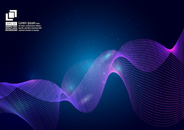Particules de couleur pourpre sur bleu