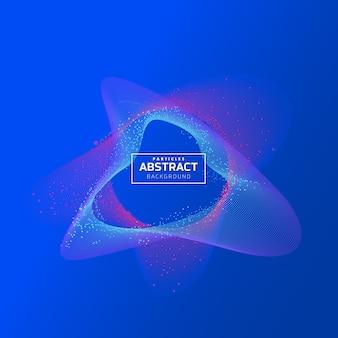 Particules de fond abstrait