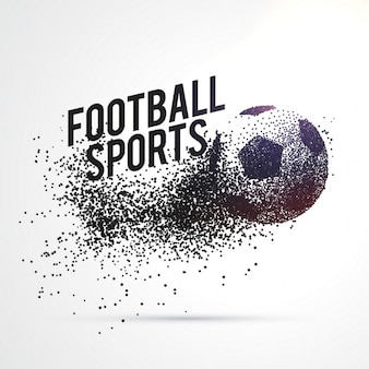 Particules formant le football sports forme fond