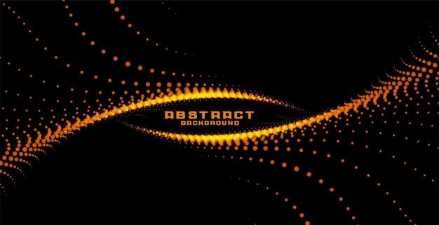 Particules incandescentes abstraites en arrière-plan de style tourbillon