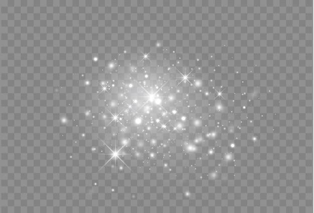 Particules de lumière rougeoyante décoration magique