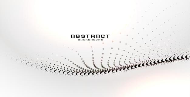Particules noires abstraites sur fond blanc