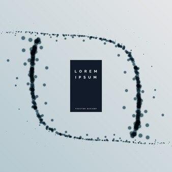 Particules noires abstraites vector background