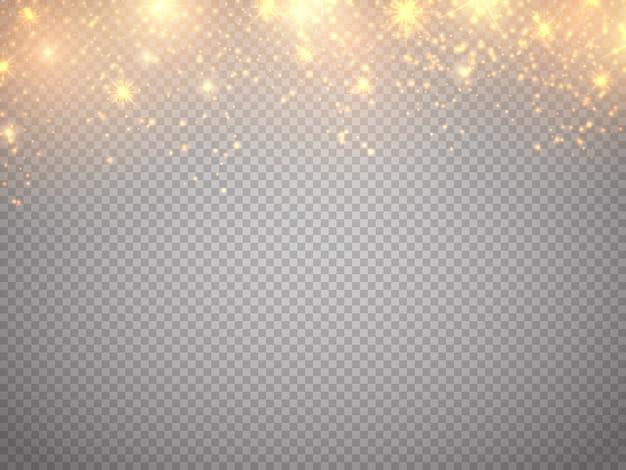 Particules de paillettes lumières bokeh