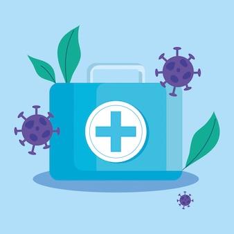 Particules pandémiques covid19 avec kit médical