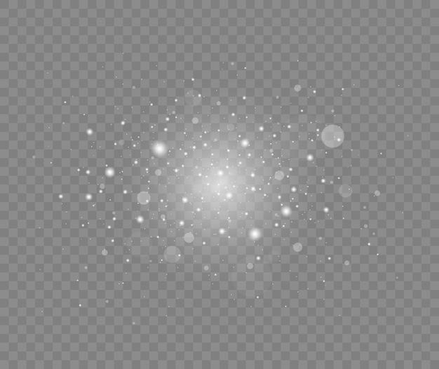 Particules de poussière magique scintillantes effet de lumière luminescente