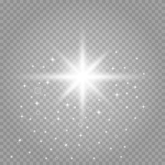 Des particules de poussière magiques étincelantes. étoile brillante.