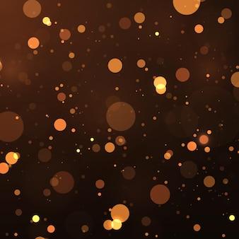 Particules de poussière magiques scintillantes abstrait effet de lumières bokeh magiques