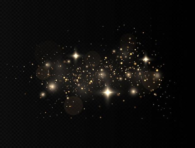 Des particules de poussière magiques scintillantes avec une lumière spéciale