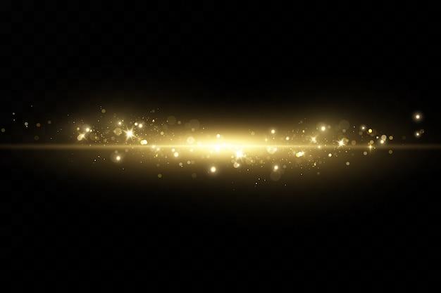 Particules de poussière magiques scintillantes