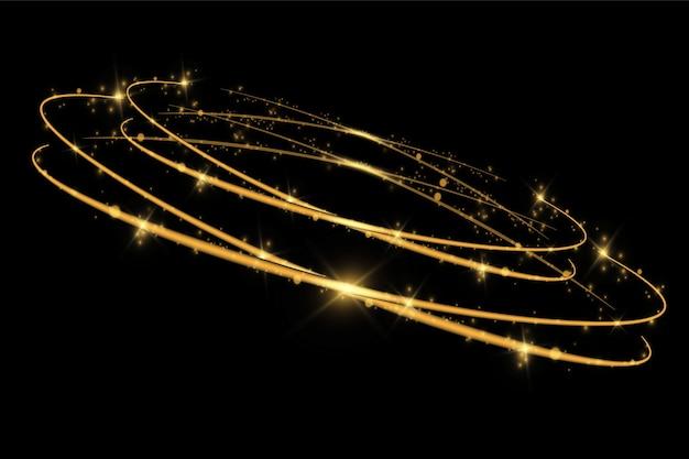 Particules de poussière magiques scintillantes.